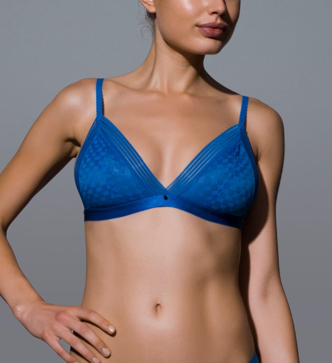 Intimate by Change Ina Triangle Wireless bra Midnight blue