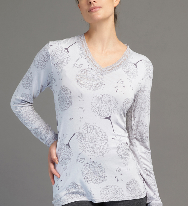 Jersey With Lace T-Shirt L/S