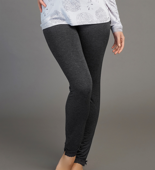 Jersey With Lace Leggings