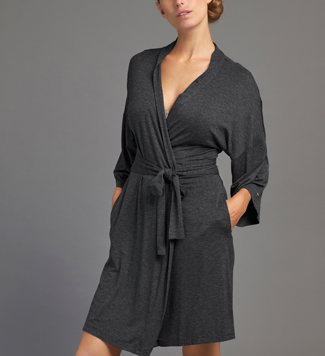 Jersey With Lace Robe