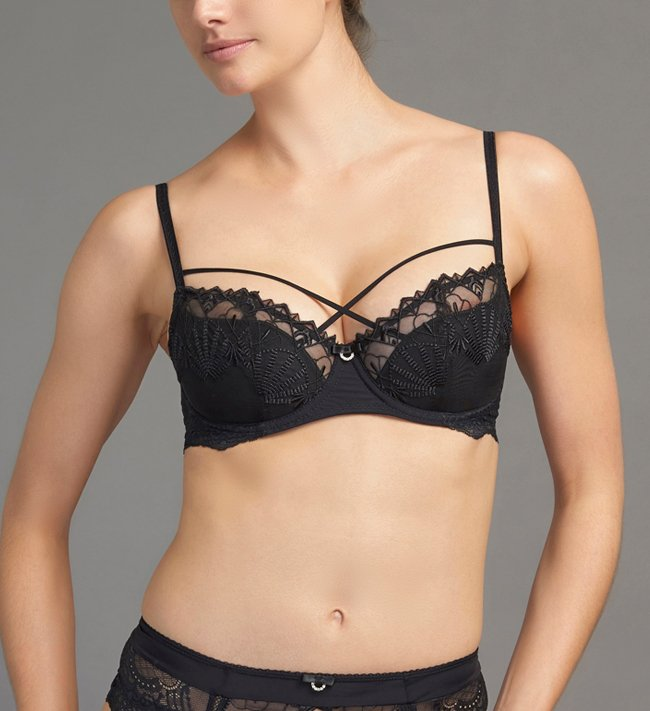 Charade Ares 3/4 Padded bra Black