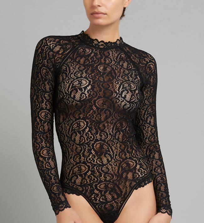 Miley Bodystocking W. Sleeves