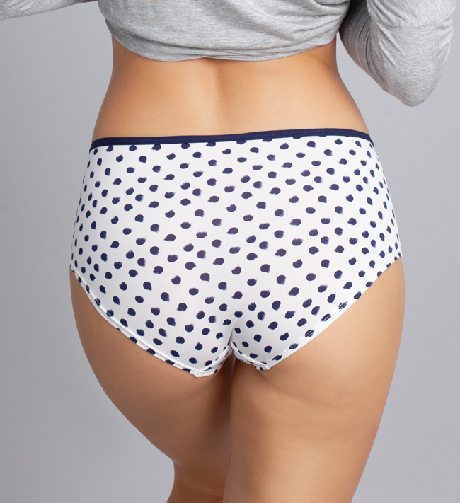 Change Brief Concept Hipster other Painted Navy Dots