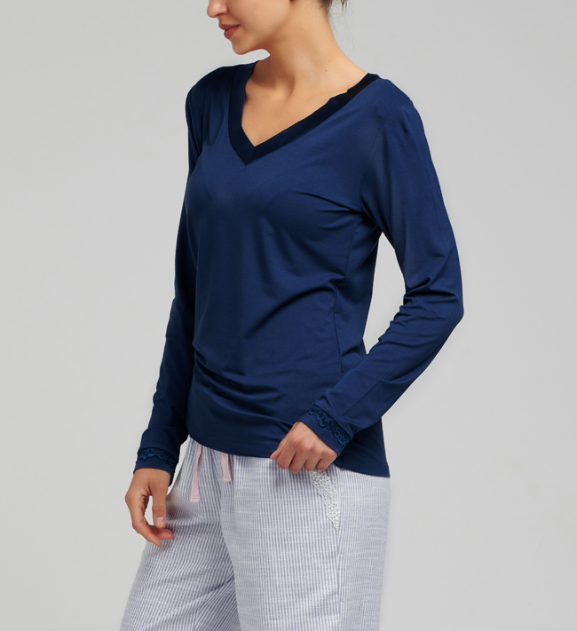Change Koszulka Lily T-Shirt L/S other Navy Blue