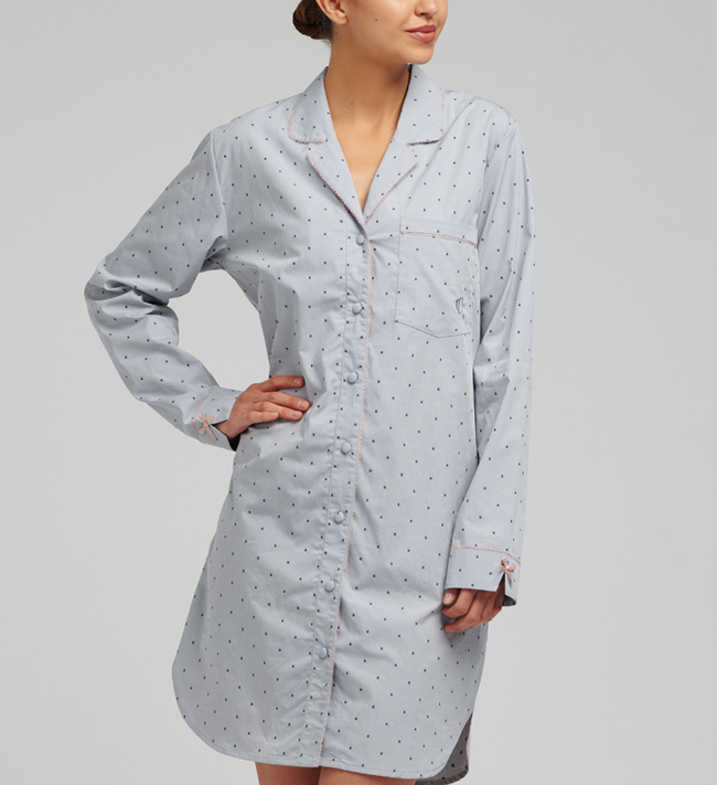 Luna Pyjama Shirt Dress
