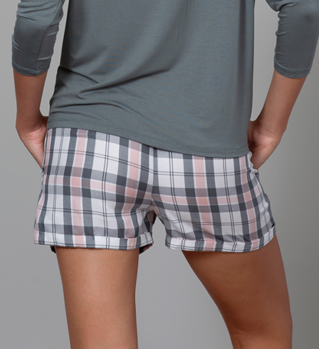 Change Lily Shorts other Check Print