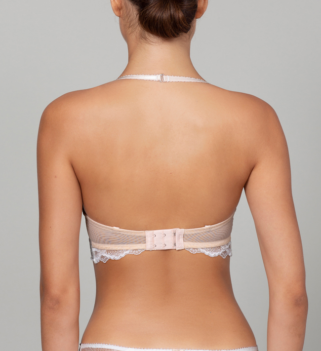 Charade Evelyn Seamless Push Up other Silver Peony With Angel White