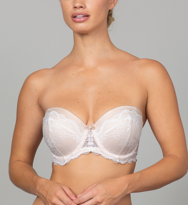 Charade Evelyn Seamless Strapless other Silver Peony With Angel White