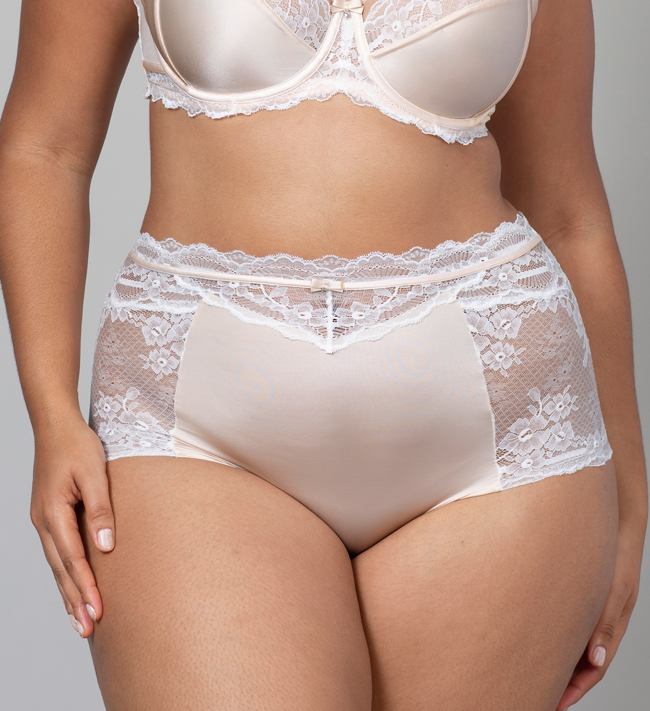 Charade Evelyn Hipster High Waist other Silver Peony With Angel White