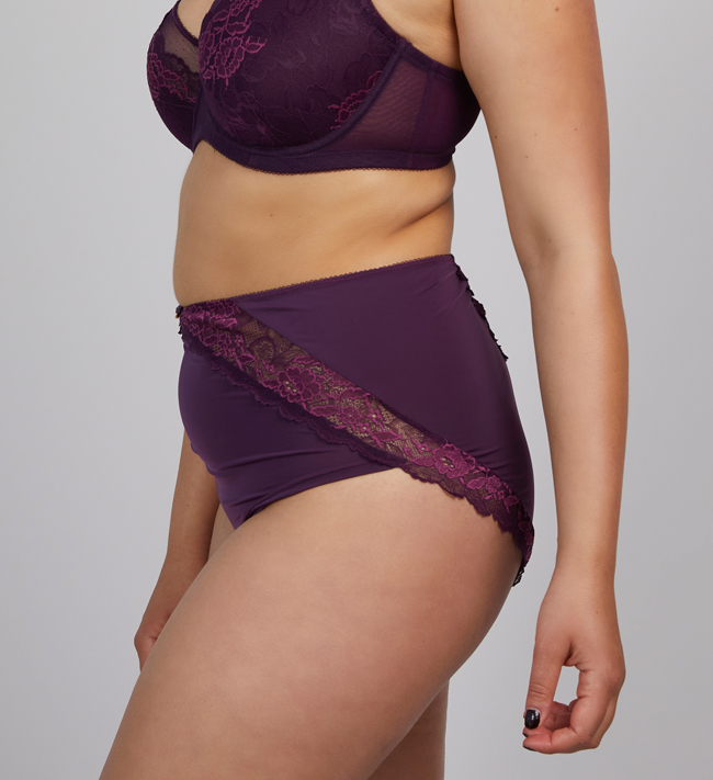 Charade Audrey Hipster High Waist other Blackberry Wine