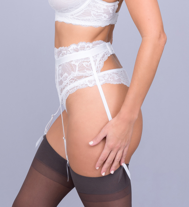 Charade Diane Suspender other Angel White