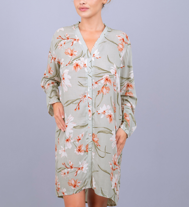 Intimate by Change Viola Pyjama Shirt Dress other Lovely Upscaled Florals