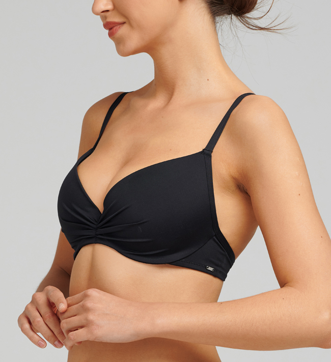 Basic Swim Classic Swim Seamless Push Up other Black