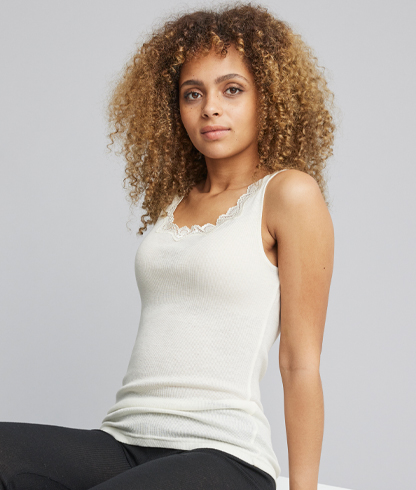 Basic Wool Rib Tank Top other Ivory