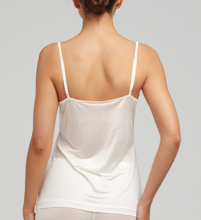 Basic Silk Knit With Lace Camisole other Ivory