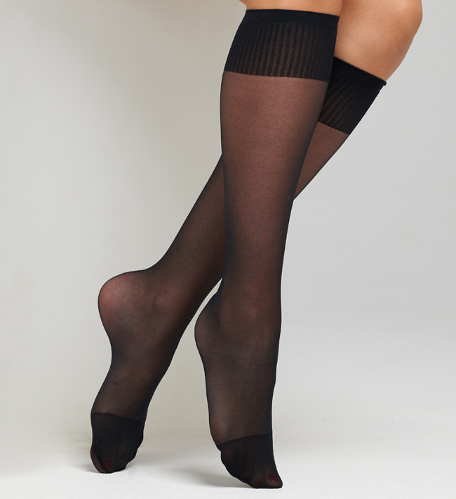 Plain Hosiery Knee Highs 20D