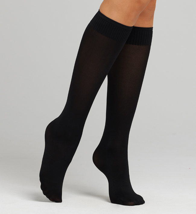 Plain Hosiery Knee Highs 60D